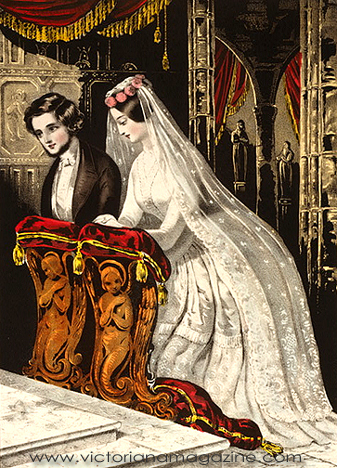 1840s wedding dress