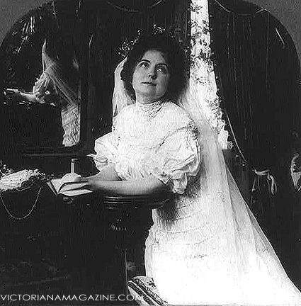 Edwardian wedding dress.