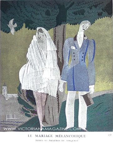 1920s wedding dress from French fashion magazine Gazette du Bon Ton