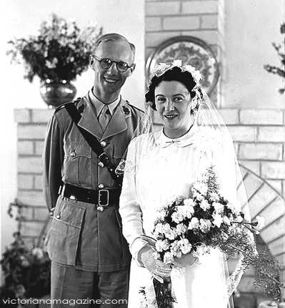 1940s Vintage Wedding Dress Vintage clothing A 1943 war time wedding